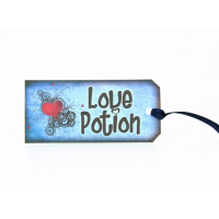 Love Potion Bottle Tag