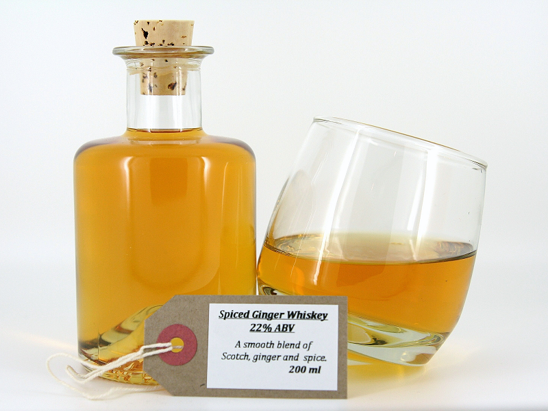 Spiced ginger whiskey for Hot tea with whiskey